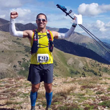 "Grateful for care he received for lung cancer, Yariv ""Dolio"" Kafri ran an ultra marathon in the Rocky Mountains last year to raise funds for related MGH research."