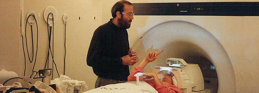 Late Mass General researcher Jack Belliveau, PhD, pictured in 1994, was an fMRI pioneer. (photo courtesy of Greg Simpson)