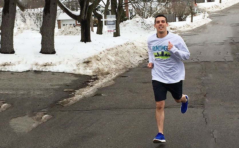 Ryan Foley vowed to run the Boston Marathon for Mass General while his father was in the hospital awaiting a quintuple bypass.