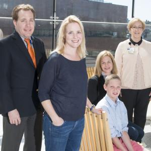 Dr. Shreffler, parents Sarah Wolfgang and Susan Fitzpatrick, Connor and Lisa Stieb, RN.