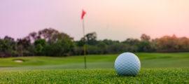 golf sunset