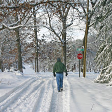 Settling for a brisk, 10-minute walk is OK when time for holiday exercise is tight.