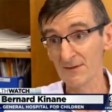 Dr. Bernard Kinane of MassGeneral Hospital for Children speaking with WBZ-TV's Mallika Marshall.