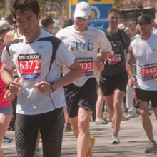 On April 21, more than 200 people will run and raise funds for one of three Mass General Boston Marathon 2014 teams supporting MGH programs devoted to pediatric cancer, cystic fibrosis and emergency response.