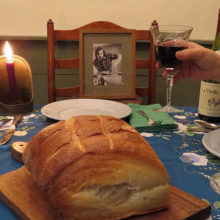 A toast to Tony Davenport, a dear college friend of Gene's who died of cancer in 2004 (photo courtesy of Gene Beresin).