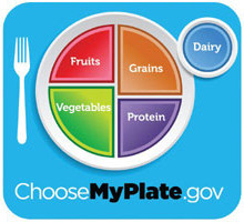 Ms. Cummings recommends the My Plate guidelines, put forth by the U.S. government. The guidelines call for half of one's plate to be filled by fruit and vegetables.