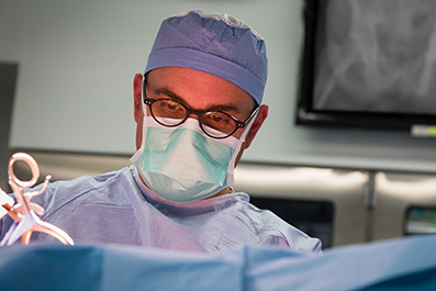 Dr. Anne Johnson Performing Ankle Surgery