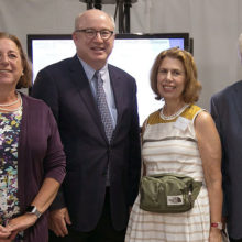 Attendees at a recent Rappaport Foundation event at Mass General included, from left, Joan Sapir, a Mass General senior vice president; Peter L. Slavin, MD, Mass General president; and Phyllis and Jerome Lyle Rappaport.