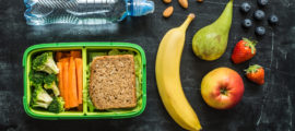 For a school lunch, parents should avoid prepackaged foods that may be easy to pack but are low in fiber and high in added sugars.