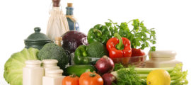 To help prevent cancer through food, try a diet of mostly fruits, vegetables and whole grains.