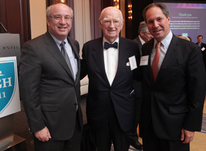Dr. Peter L. Slavin, President; Mr. James F. Mooney Jr., member of The 1811 Society; Mr. Carl J. Martignetti, Member, Massachusetts General Hospital Board of Trustees, Co-Chair, MGH Fund Leadership Council