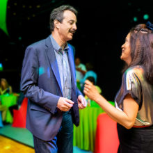 Athi Myint-U and Steven Isakoff, MD, PhD, hit the dance floor at Athi's Hair Raising 80s Dance Party fundraiser, where more than $10K was raised for the scalp cooling program at Massachusetts General Hospital. Photo: Amanda Kowalski