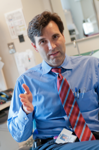 Steven Russell, MD, PhD, is working on a bionic pancreas with colleagues.