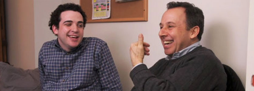Author Ron Suskind (right) with son Owen