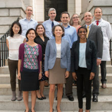 Katrina Armstrong, MD (front row, center), chief of Medicine at Mass General, with scientist-clinicians participating in the Transformative Scholars Program, which she created.
