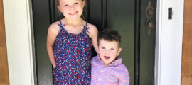 The parents of liver transplant recipient Lincoln Dahlstrom, pictured with his sister, Tillie, hope research under way at Mass General will help him do anything he wants to do in life.