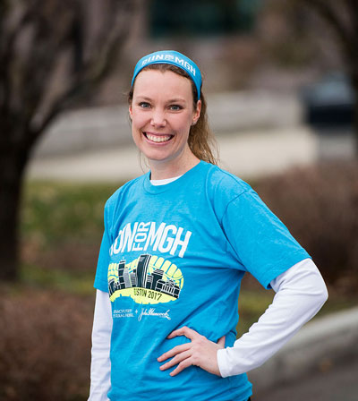 Boston Marathon runner Helen van Riel says she can't put into the words the gratitude her family has for Mass General.