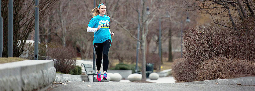 Helen van Riel says she was deeply moved when she got a spot on the Mass General Boston Marathon Team.