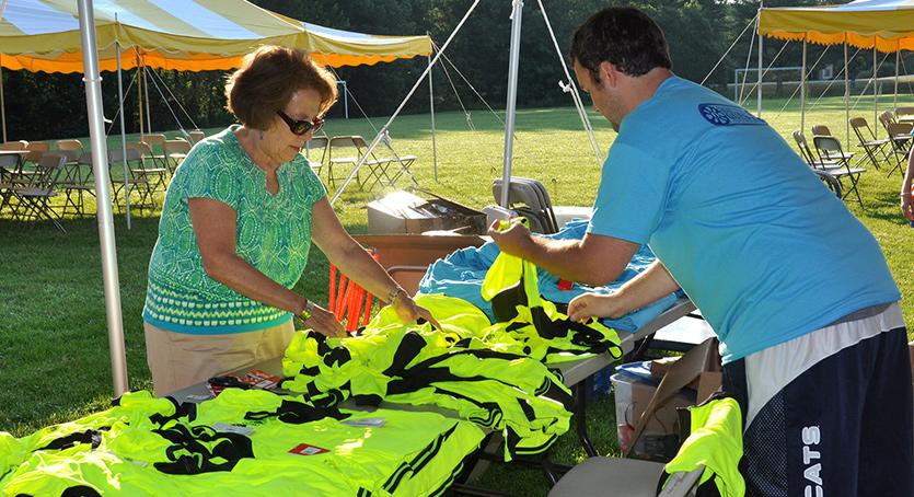 Volunteers make the event happen