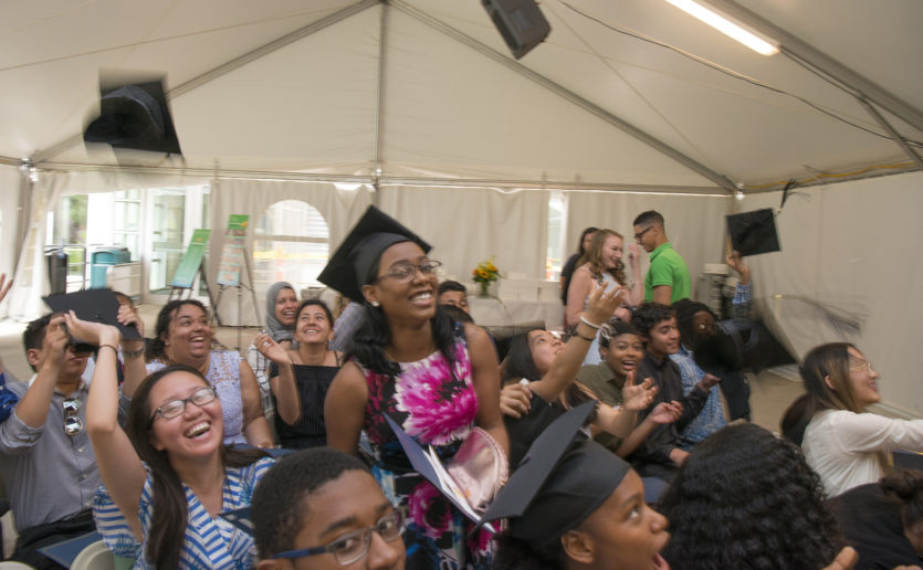 Members of the MGH Youth Scholars Class of 2018 celebrate their graduation from the program.